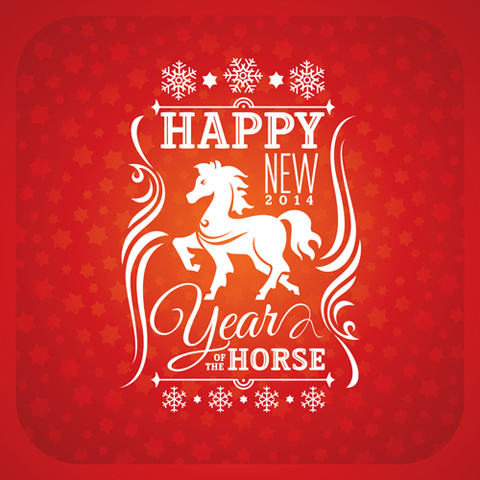 Happy new year 2014 our friends the horses