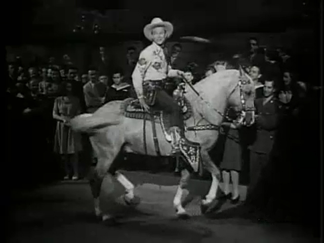 Trigger dancing with Roy Rogers
